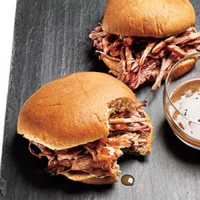 Pulled Pork Sandwich with mustard sauce